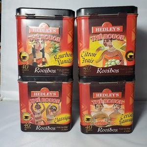 Hedleys African Rooibos Tea Tins Lot of 4 EMPTY
